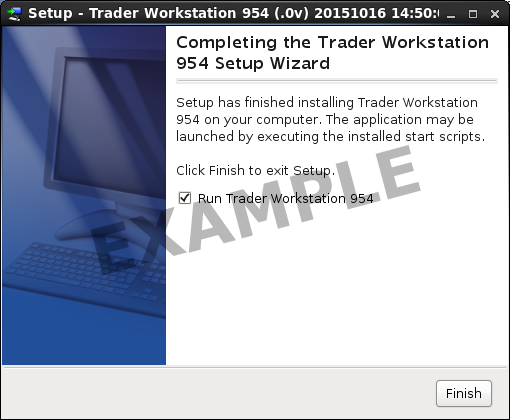 TWS Install for Linux Screen